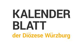 Kalenderblatt der Diözese Würzburg